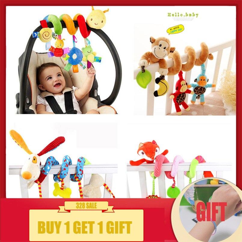 Weichen Säuglings Krippe Bett Kinderwagen Spielzeug Spirale Baby Spielzeug Für Neugeborene Auto Sitz Hängen Bildungs Rassel Spielzeug Für Weihnachten Geschenk