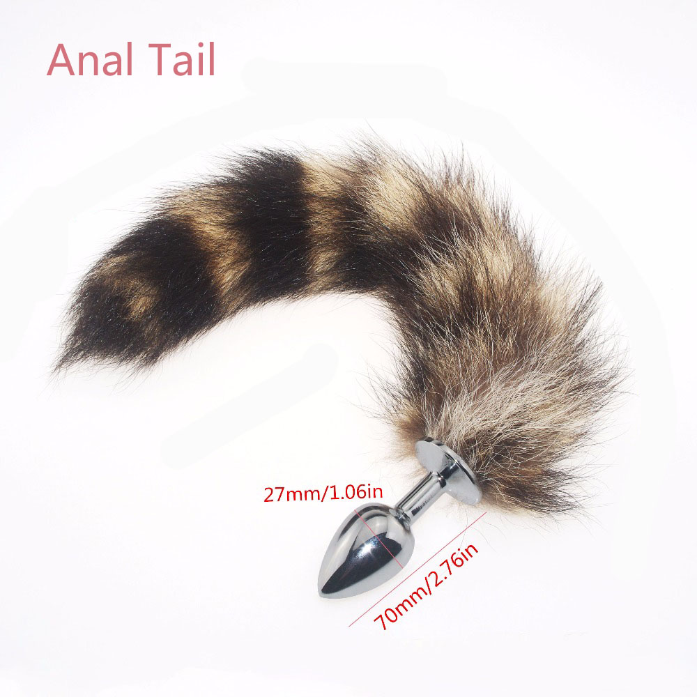 1 Pcs Metal Anal Toys Fox Tail Anal Plug Erotic Toys Butt -2830