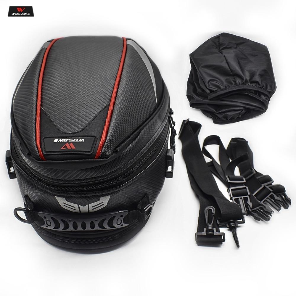 16 21L Motorcycle Tail Bag Luggage Moto Saddle Bag Waterproof Tank Bag Motocross Motorbike Shoulder Bag Rear Seat Trunk Backpack