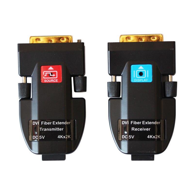 4k 2k Optical Fiber DVI Extender support 2km 3840 2160 30Hz for 256 128mm 64 32