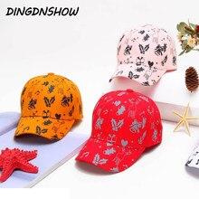 DINGDNSHOW 2019 moda gorra de béisbol de los niños de algodón Snapbacks sombrero  Impresión de dibujos animados de Hip Hop gorra. 3a4f86c302a