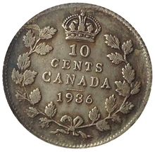 1936 Canada 10 Cents Coins COPY(China)