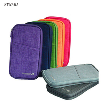 6 Colours Fashion Travel Set Nylon Man Brand ID Passport Holder Credit Card Organizer Bag Women