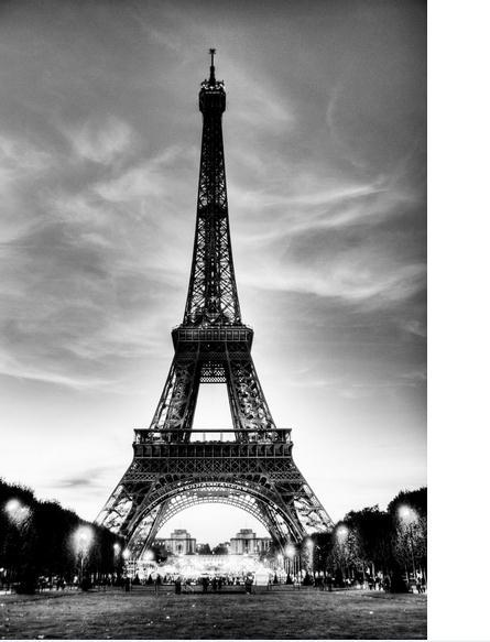 Paris wallpaper hd black and white for Eiffel tower wall mural black and white