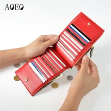 AOEO Cat Dog Pattern Wallet Female New Fashion Of Luxury Brand Slim Design Small Purse Long total 3 Model Women Wallets Ladies