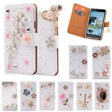 Note3 Роскошный кошелек Стенд флип искусственная кожа алмаз чехол для Samsung Galaxy N9000 Note 3 III Дело Эйфелева бантом цветок крышка Капа