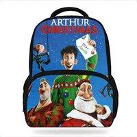 14Inch Hot Sale Kids Schoolbag Cool Arthur Christmas Gift Backpack For Boys Animated Film Mochila Children