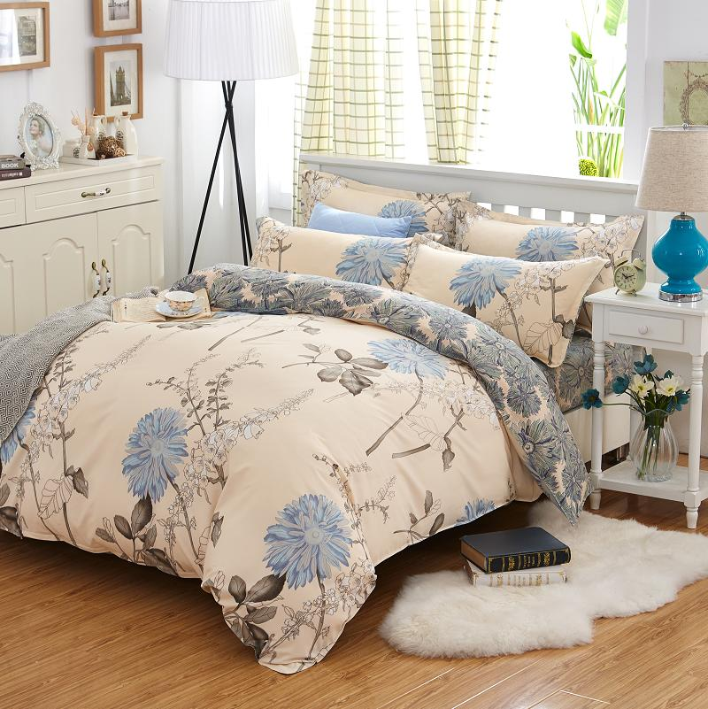 Bed Sheet Home Linen Textiles Bedding Set Bedclothes include Duvet Cover Bed Sheet Pillowcase Comforter Bedding Sets Bed