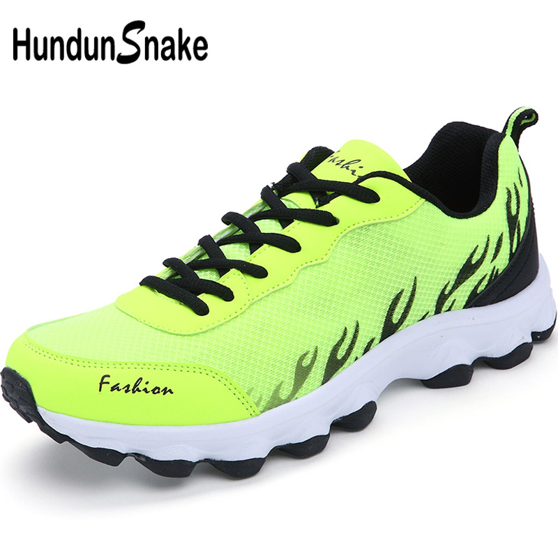 Hundunsnake Green Mesh Mens Sneakers Light Weight Men