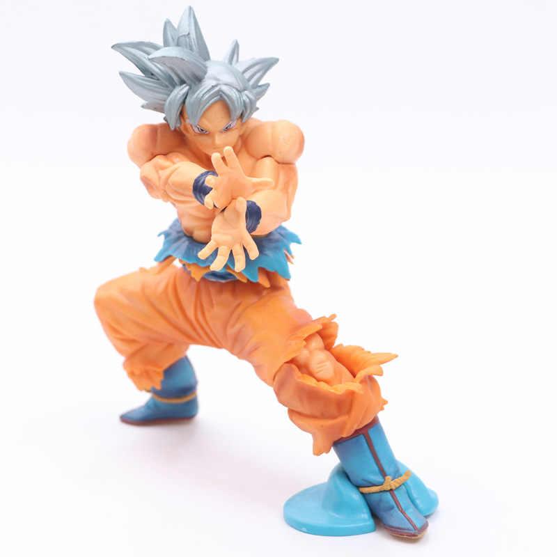Novo estatueta dragon ball z super son gokou goku super ultra instinct dominado (migatte no gokui) modelo de pvc figura de ação, brinquedos