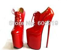 Freies verschiffen, 30 cm Ferse Hohe Sexy Schuhe, High Heel Schuhe, Echte Lederne Schuhe, High Heels, KEINE. y3010