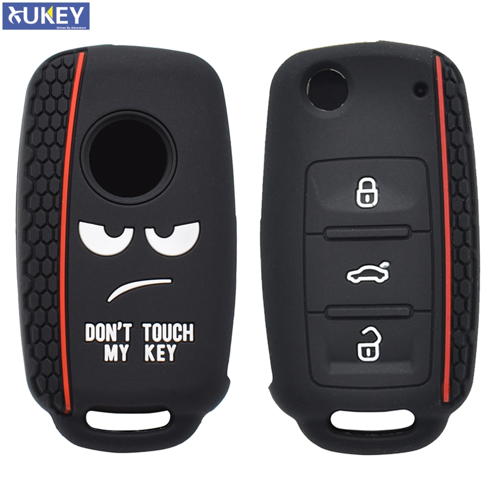 Silicone Remote Key Case For SKODA Fabia Octavia Superb For Seat Leon Toledo Altea Ibiza Fob Shell Cover Skin 3 Button(China)