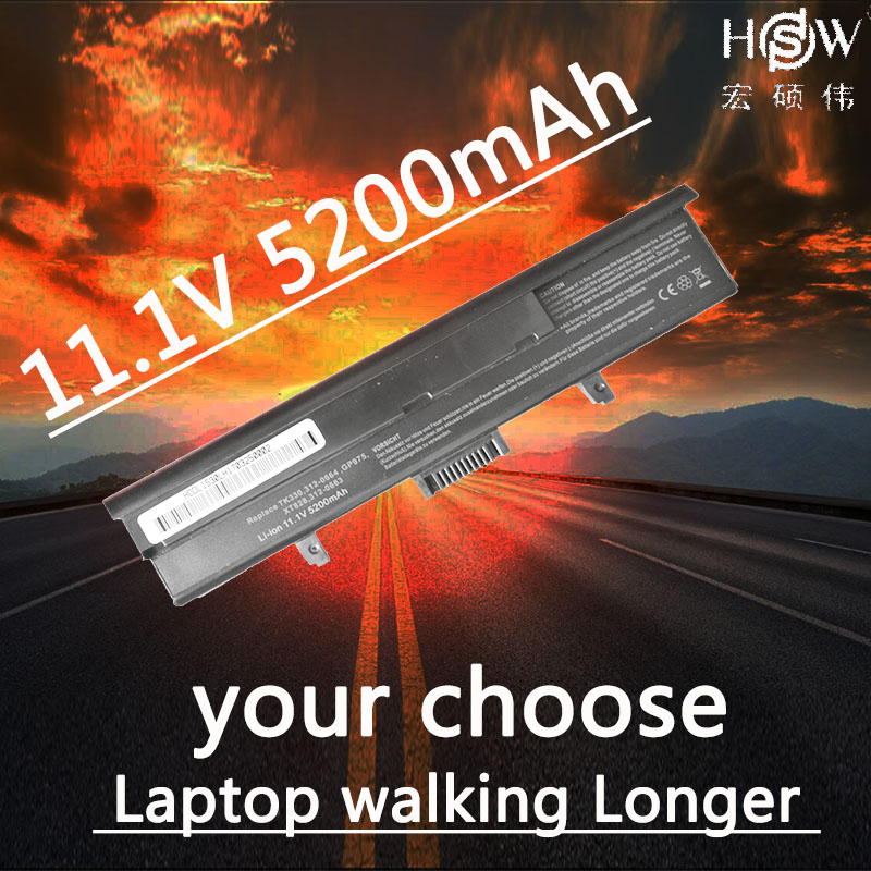 HSW 5200mAh 6 Cell New Laptop Battery For DELL XPS M1530 1530 HG307 RU006 TK330 RU033 RN894 GP97 XT832 312-0664 451-10528 AKKU