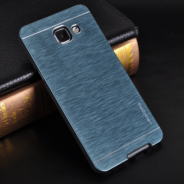 pretty nice b1bf1 8b515 US $3.98 |For Samsung Galaxy A5 2016 Luxury Motomo Aluminum Metal Brush PC  Hard Case For Samsung A3/A5/A7 2016 Hoesje Plastic Phone Cases on ...