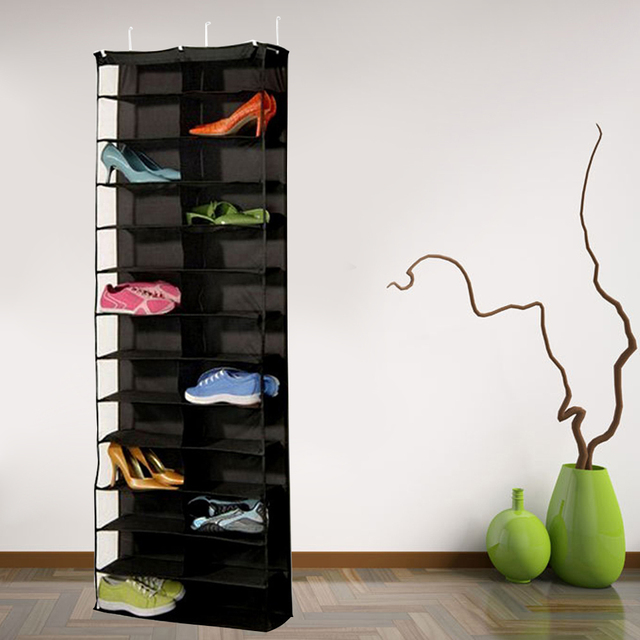 26 Pockets Hanging Organizer Shoes Bag Holder Room Door Back Space Saver  Storage Shoes Rack Organizer
