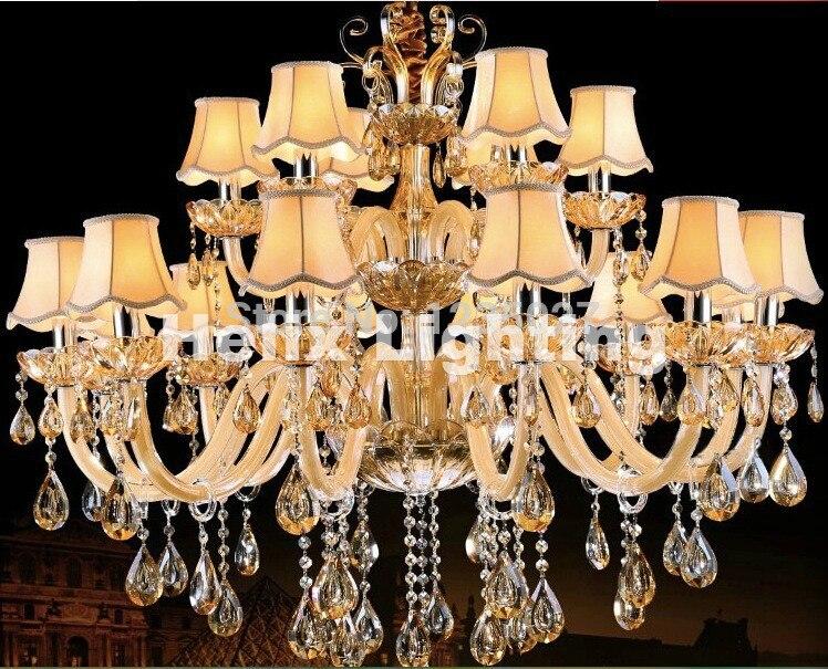 Kristall Kronleuchter Günstig Kaufen ~ Moderne champagner weiße kristall kronleuchter europäischen luxus