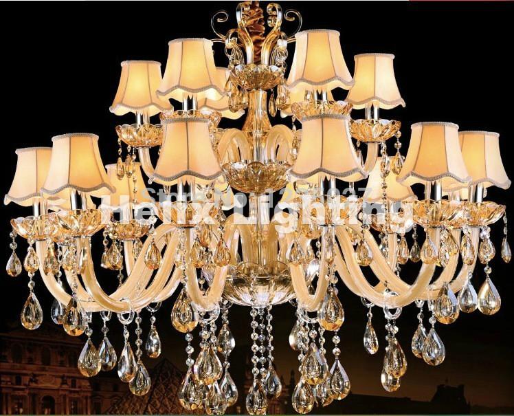 Led E14 Kerze Kronleuchter ~ Moderne champagner weiße kristall kronleuchter europäischen luxus