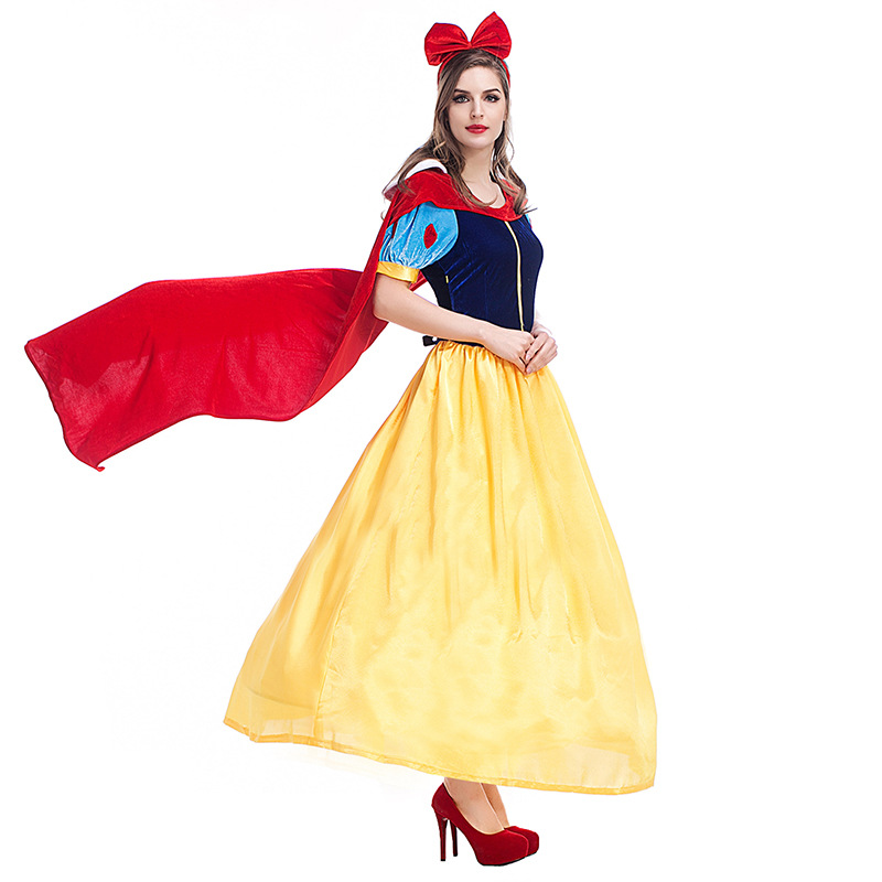 Princess Cosplay Adult Snow White Princess Role-Playing Costume Summer Dress Fairy Princess Queen Costume Dress Stage Dress