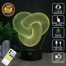 Rope Knot 3D Lamp USB Remote Control LED Decor Bulbing Novelty Lighting Glowing Christmas Gift HUI YUAN Brand