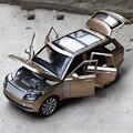 1/24 Range Rover Diecast Metal Modelo de Coche de Aleación de Seis puertas luz Tire Hacia atrás de la inercia de Alta gama de Simulación de Sonido Regalos juguetes Colecciones