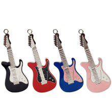 Metal Electric Guitar Usb Flash Drive Creative Memory Colorful Guitar Pendrive 128 GB Waterproof Memoria Cel Usb Stick Gift(China)