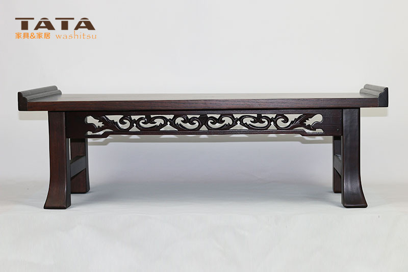 Asian Wood Furniture Korean Dining Table Folding Legs Rectangle 60 35cm Living Room Coffee Table
