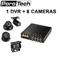 Hdvr8085 1 dvr с 8 Камера Wi-Fi Видеорегистраторы для автомобилей reaview зеркало Ночное видение аудио Камера для такси школьный автобус DHL Бесплатная д...