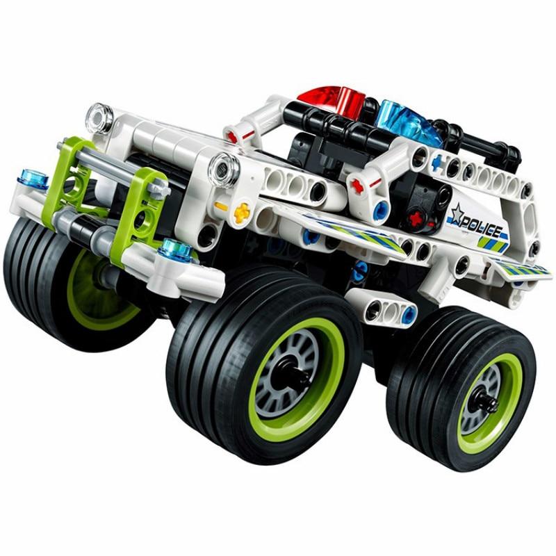 3411-18 Teknikal 2 dalam 1 pejuang pelumba off-roader Kereta Model 3D - Mainan pembinaan - Foto 4