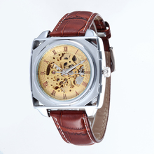 WHATCH Mens Mechanical Vintage Automatic clock Men watches Fashion Leather strap Watch china famous brand waterproof
