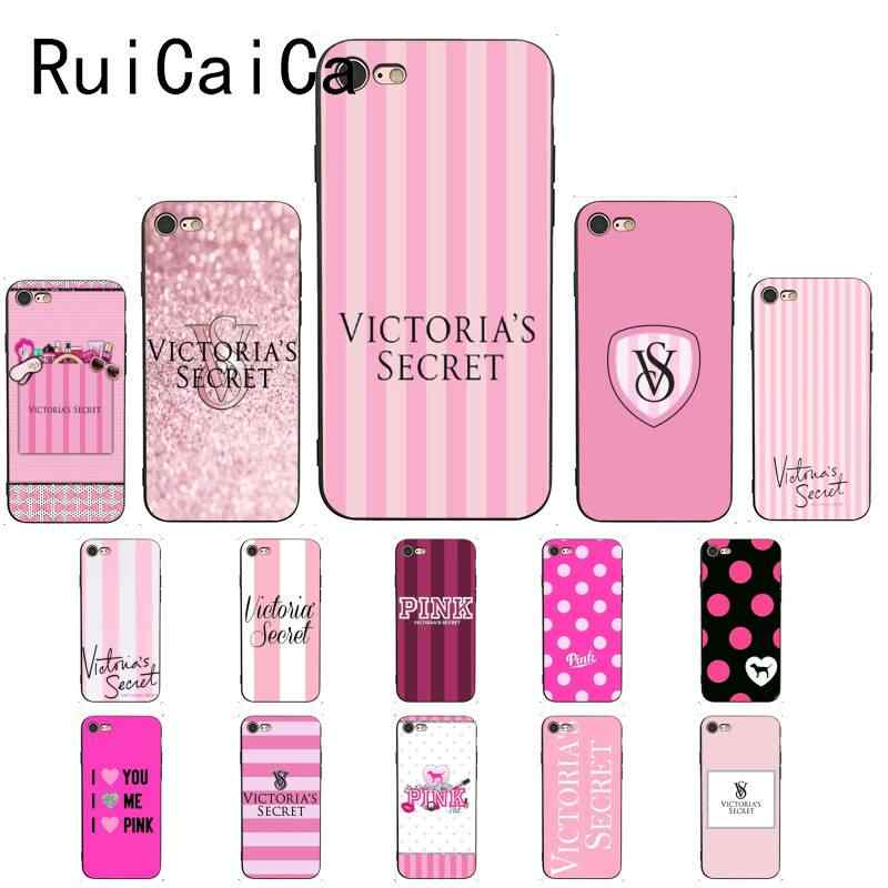 Ruicaica Victoria PINK LOVE PINK TPU Soft Silicone Phone Case Cover for iPhone X XS MAX 6 6S 7 7plus 8 8Plus 5 5S XR Cover
