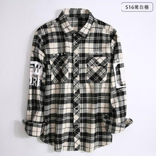 Hip Hop Style Men Long Sleeve Fashion Grind Shirts Camisa,Turn-down Collar Slim Fit Pure Cotton High Quality Pattern