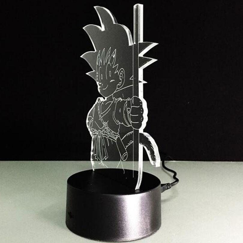Dragon Ball Led Table Lamp Colors Changing Kid Goku
