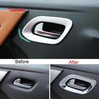 Tonlinker Außentür griff Abdeckung Aufkleber für Citroen C-Elysee/Peugeot 301 2014-17 Auto styling 4 PCS ABS Chrom Abdeckung aufkleber