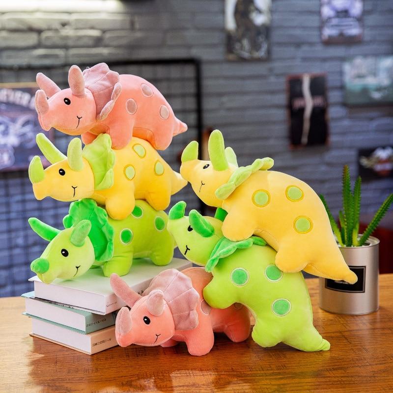 35cm Creative Cartoon Dinosaur Doll Soft Plush Toys Stuffed Animal Cute Triceratops Children Toy Gift