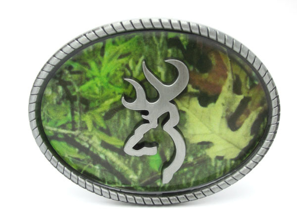 Ovale Camouflage Browning Gürtelschnalle
