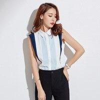 QA981 Elegant white off shoulder top women summer sleeve sleeve patchwork chiffon blouse Korean loose 2018 female blouse shirt