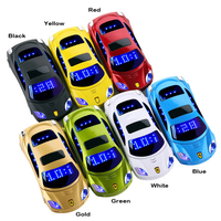 2015 Arabic Greek Dutch Hindi Unlocked Russian Keyboard Flashlight Dual Sim Cards Super Car Model Mini