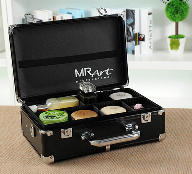 Beautician Professional Cosmetic Bag Large Capacity Travel Waterproof Storage Suitcase Solid Makeup case Organizer Tool box 40Z