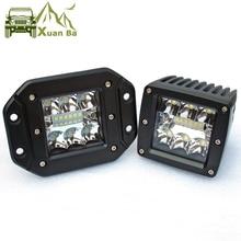 3 5 дюймовый светодиодный рабочий светильник для внедорожников 4x4, пикапов Wrangler, 12 В, 24 В, фары с комбинированными лучами, утопленное крепление, светильник дальнего света s