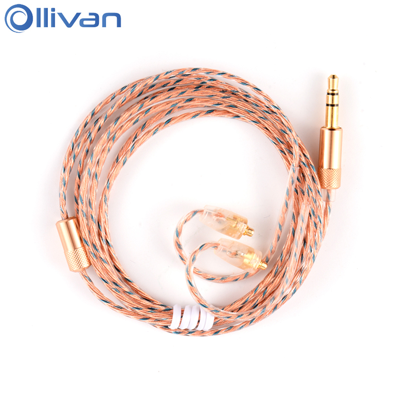 Ollivan DIY MMCX Interface Earphone Line Wire Universal Replacement Upgrade Audio Cable For Shure SE846 SE535 SE215 UE900