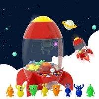 Rocket Candy Grabber Coin Operated Game Machine Desktop Mini Children Candy Machine Kids Dolls Grabber Claw Machine Toys Arcade