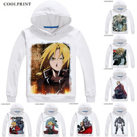 Fullmetal Alchemist of Steel Men Hoodies Multi style Anime Shirt Edward Elric Alphonse Motivs Kawaii hip hop Cosplay Sweatshirts