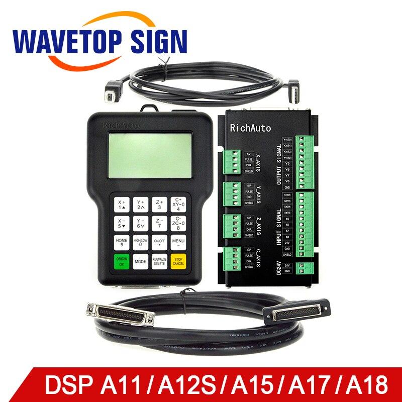 RichAuto DSP A11 A12S A15 A18 3 оси связь 4 оси связь контроллер Поддержка станок cnc с автоматической заменой инструмента multi-головки обмена