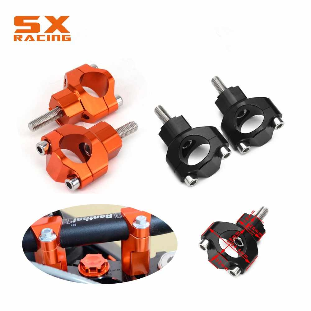 "Sepeda Motor 1 1/8 ""28 Mm Stang Riser Bar Mount Clamp untuk KTM SX SXF EXC Xcw Xcfw Excf 125 150 200 250 300 350 450 500 525 530"