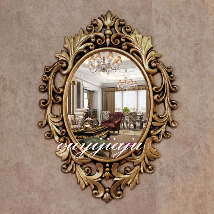 large big decorative cosmetic antique oval wall mirror with frame vintage wedding gift bathroomshower