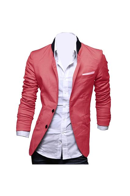 FS Caliente hombres Camiseta Slim Fit Blazer Jacket Coat Camisa XX-Grandes de Color Rojo Sandía