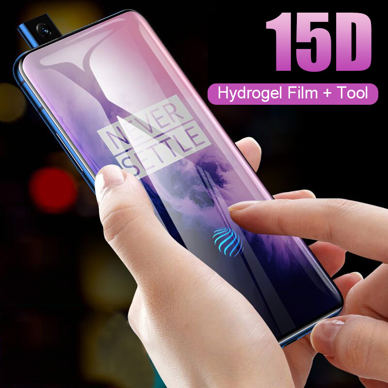15D Hydrogel Film Full Cover On The For Oneplus 7 Pro 6t 5t Protective Film For Oneplus 7 5 6 Screen Protector Film Not Glass