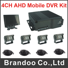 MDVR 4Ch Hd Vehicle Blackbox Mobile Dvr kit Support 1080p and 1080n