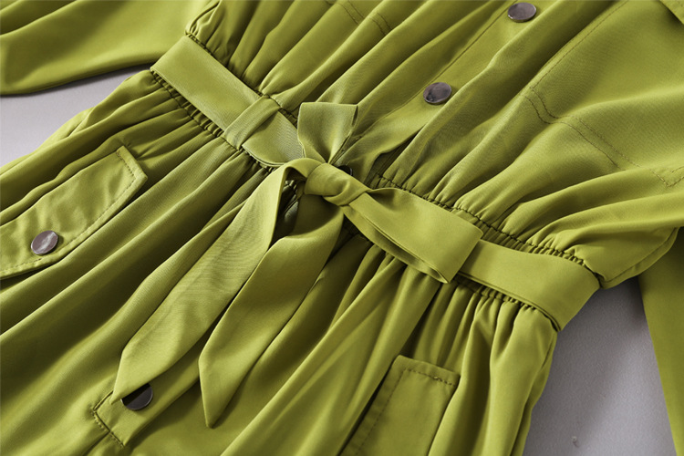 Girl dress Women lady clothes yellow button clothes set 26