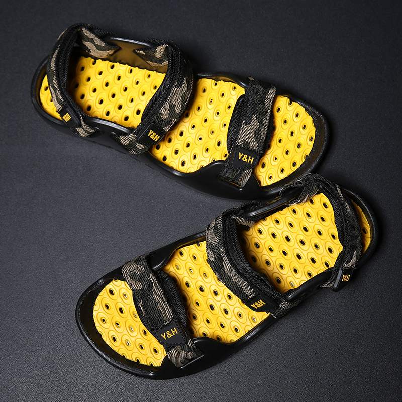 Fires Sandals Men Summer High Quality Brand Shoes Beach Men Sandals Men Causal Shoes Fashion Outdoor Unisex Sandals Slippers